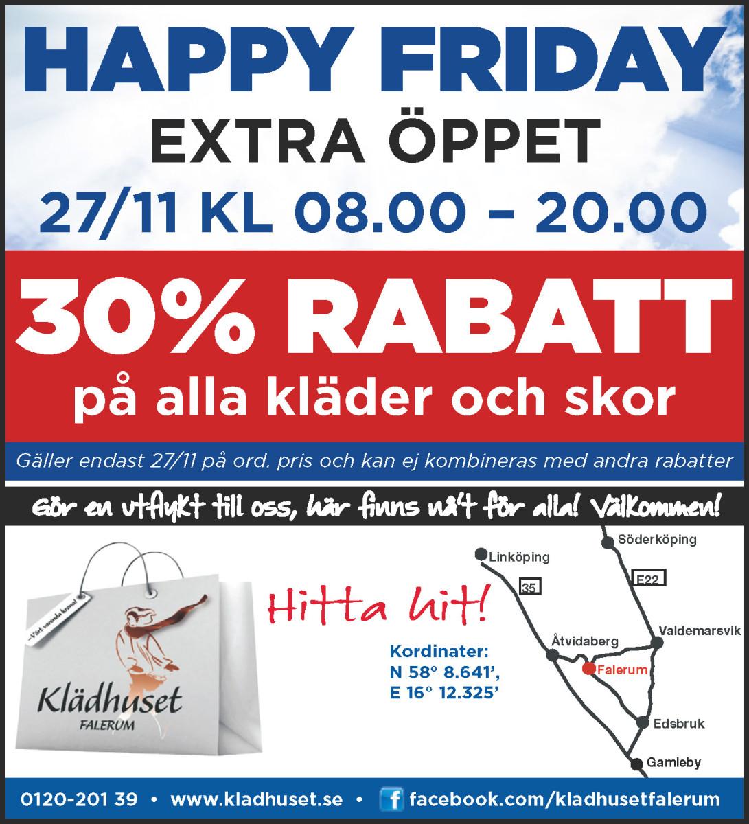 Happy Friday M22 Klädhuset
